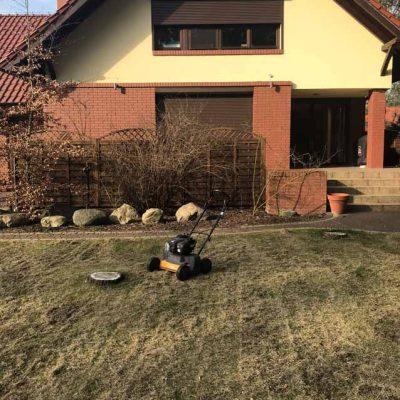 Dolaszewo - wertykulacja trawnika (1)