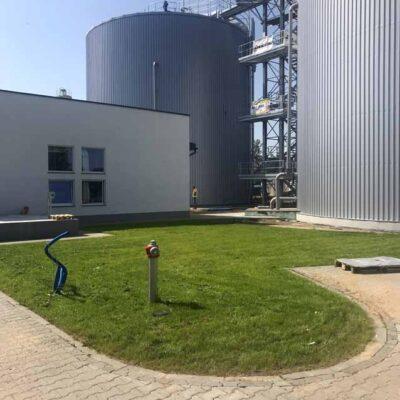 Grzybowo - pierwszy etap zagospodarowania terenu wokół oczyszczalni ścieków i biogazowni (2)